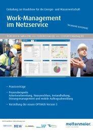 Work-Management im Netzservice - Wilken GmbH