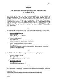 Satzung der Stadt Syke über die Festlegung von Schulbezirken in ...