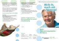 Krebsfrüherkennung für Männer - Ärztekammer Niedersachsen