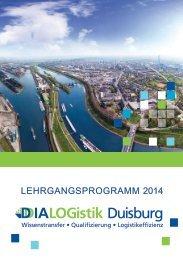 LEHRGANGSPROGRAMM 2014 - DIALOGistik Duisburg