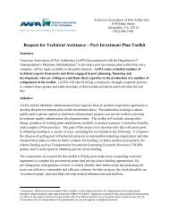 Request for Technical Assistance – Port Investment Plan Toolkit