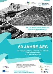 Samstag, 9. November - Association Européenne des Conservatoires