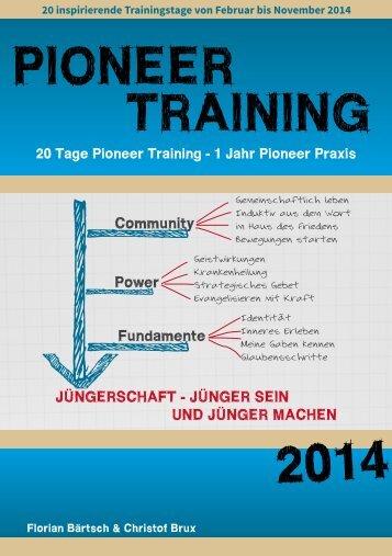 PIONEER TRAINING 2014 - Pioneer-Academy