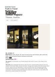 Condé Nast Traveler - Hotel Topazz Vienna 20130425