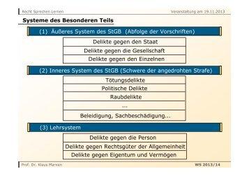 19. 11. 2013 - Prof. Dr. Klaus Marxen