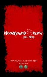 pub eatery - BloodHound Brew