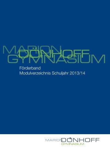 Modulverzeichnis - Marion Dönhoff Gymnasium