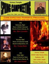 Rev. Dave Cornelius Rev. Tommy Bates Rev. Joey Prewitt