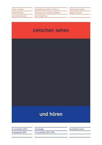Programmflyer zur Ausstellung - Master Kunst Luzern