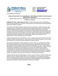 Contact: Jessica M. Salazar - Children's Mercy Hospitals and Clinics