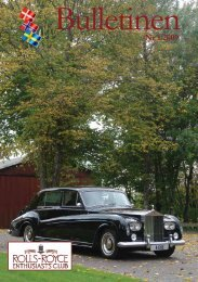 Nr 1 2009 - Rolls-Royce Enthusiasts´Club