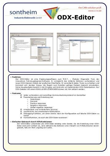 ODX-Editor - Sontheim Industrie Elektronik GmbH