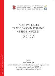 TARGI W POLSCE TRADE FAIRS IN POLAND ... - I-Manager