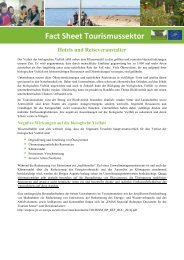 Fact Sheet Tourismussektor - the European Business and ...