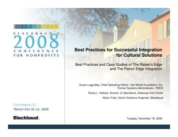 Best Practices for Successful Integration for ... - Blackbaud, Inc.