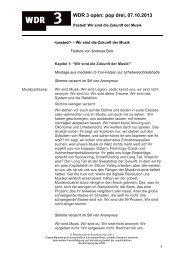 Pasted! Wir sind die Zukunft der Musik. (PDF-Download ... - WDR 3
