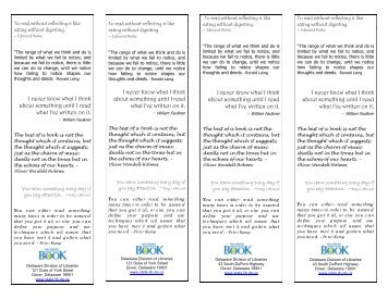 Book Quotations Bookmark - Delaware Division of Libraries