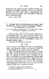 11. Persuche uber d4e Brechung von Strom- und Kraftlinitm an der ...