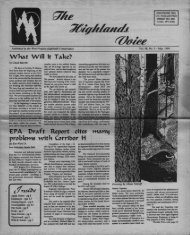 c!/Hsl~e - West Virginia Highlands Conservancy