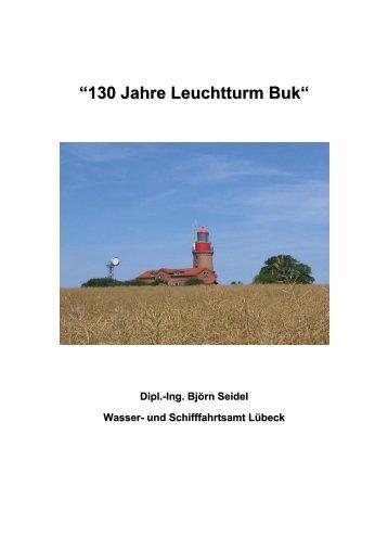 """""""130 Jahre Leuchtturm Buk"""" - WSA Lübeck - Wasser- und ..."""