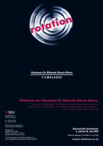 Flyer Rotation - Filmklasse Mainz