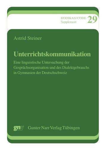 Unterrichtskommunikation - narr-shop.de