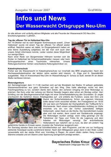Infos und News 18 - Wasserwacht Ortsgruppe Neu-Ulm