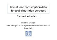 02. FAO - Updates on FCD for Nutrition