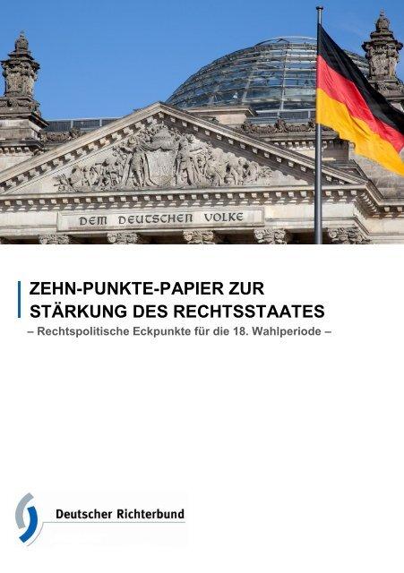 Zehn-Punkte-Papier zur Stärkung des Rechtsstaates - Deutscher ...