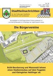 Die Bürgervereine - Bürgerverein Freiburg - Landwasser eV