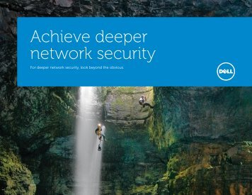 Achieve deeper network security - Dell Software