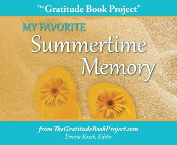 My Favorite Summertime Memories - The Gratitude Book Project