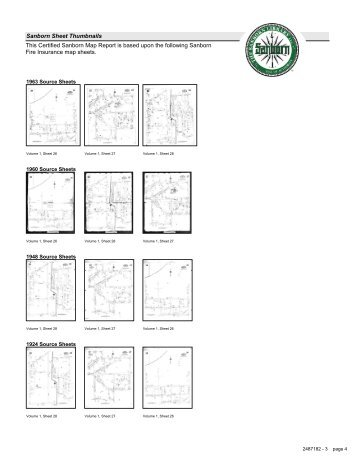 Sanborn Sheet Thumbnails This Certified Sanborn Map Report is ...