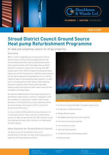 stroud district council Ground source Heat pump Refurbishment ...