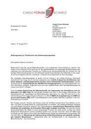 Totalrevision des Gütertransportgesetzes - Swiss Shippers' Council