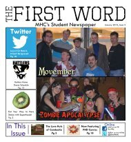 January 2013 First Word - Students' Association Medicine Hat College