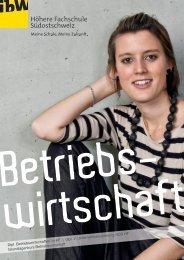 Broschüre Betriebswirtschaft - ibW Höhere Fachschule Südostschweiz