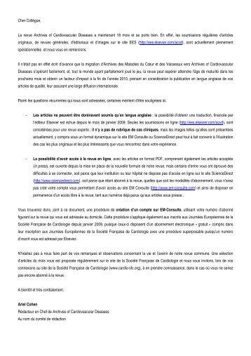 Newsletter - Site de la Societe Francaise de Cardiologie