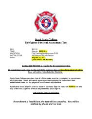 Stark State College Firefighter Physical Assessment Test