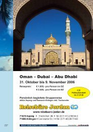 Oman – Dubai – Abu Dhabi - Jordan Reisen und Meer