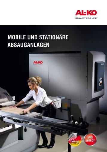 """Prospekt """"Mobile und Stationäre Absauganlagen"""""""