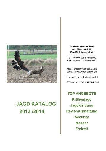 JAGD KATALOG 2013 /2014 - westoil