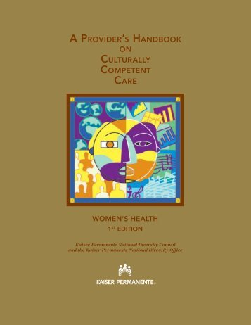 a provider's handbook on culturally competent care - Massachusetts ...