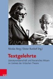 Inhaltsverzeichnis und Leseprobe (PDF) - Vandenhoeck & Ruprecht