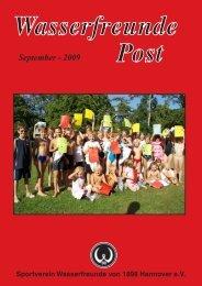 September - 2009 - Wassersportfreunde von 1898 Hannover