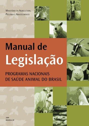 Manual de Legislação – Programas Nacionais de Saúde Animal