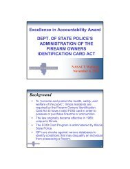 Excellence in Accountability Award DEPT. OF STATE POLICE'S ...