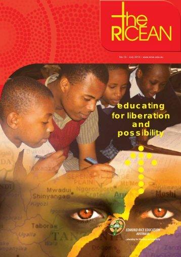 Ricean Newsletter 19 - July 2013 - Edmund Rice Education Australia