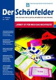 11. Jahrgang Nr. 1 2010 - Barmherzige Brüder Schönfelderhof