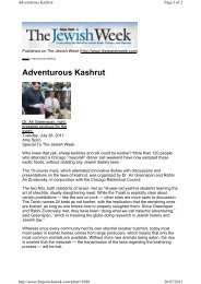 Adventurous Kashrut - Halachic Adventures